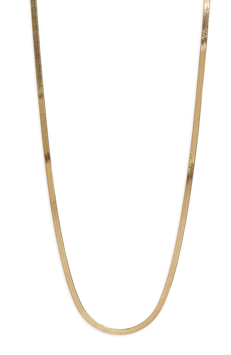 ARGENTO VIVO Herringbone Chain Necklace, Main, color, GOLD