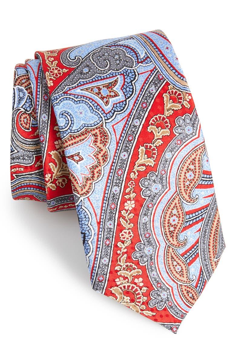 NORDSTROM MEN'S SHOP Paisley Silk Tie, Main, color, 600