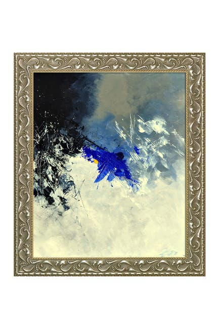 Image of Overstock Art Abstract 8811301 with Rococo Silver Frame