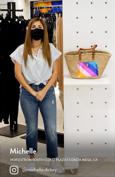 Kensington Woven Straw Basket Tote, sales video thumbnail