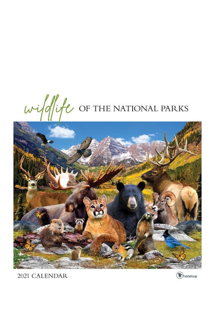 Image of TF Publishing 2021 Wildlife of the National Parks Wall Calendar