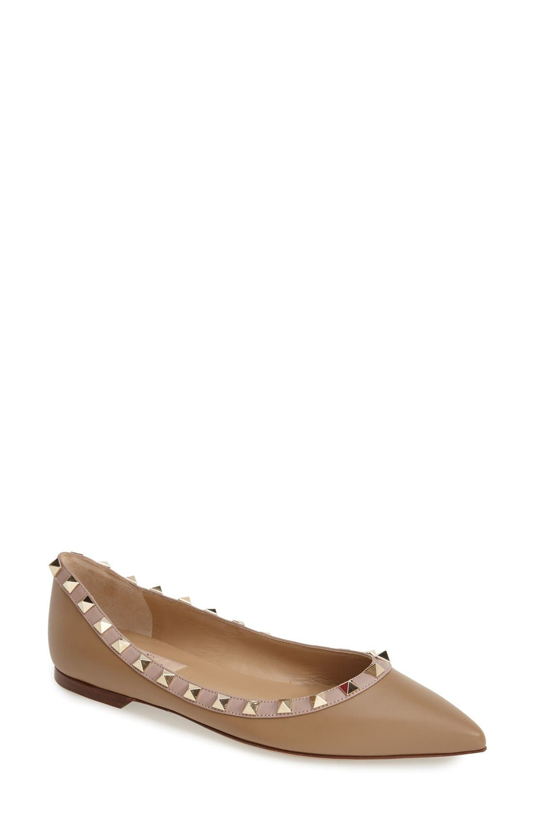 'Rockstud' Flat, Main, color, 200