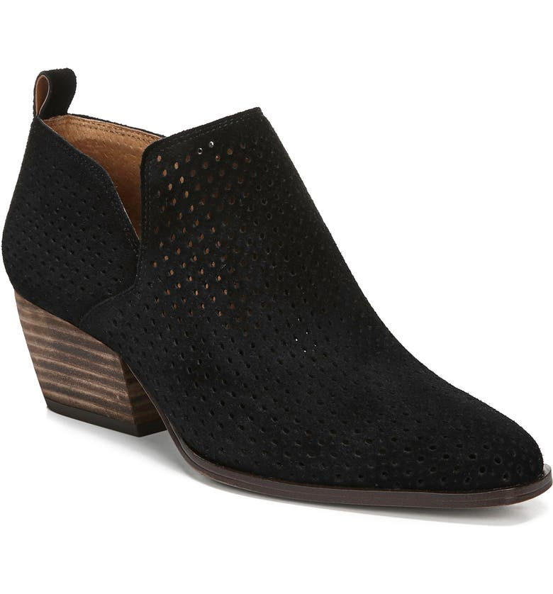FRANCO SARTO Dingo Perforated Bootie, Main, color, 001