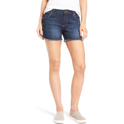 Kut From The Kloth Gidget Denim Cutoff Shorts, Blue