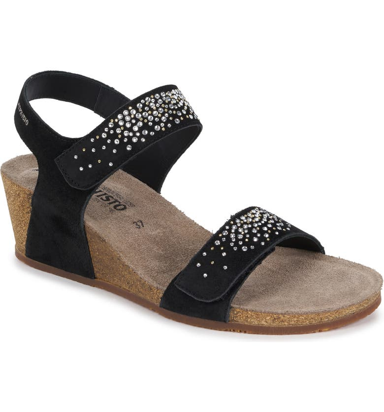 MEPHISTO Maria Spark Wedge Sandal, Main, color, 003