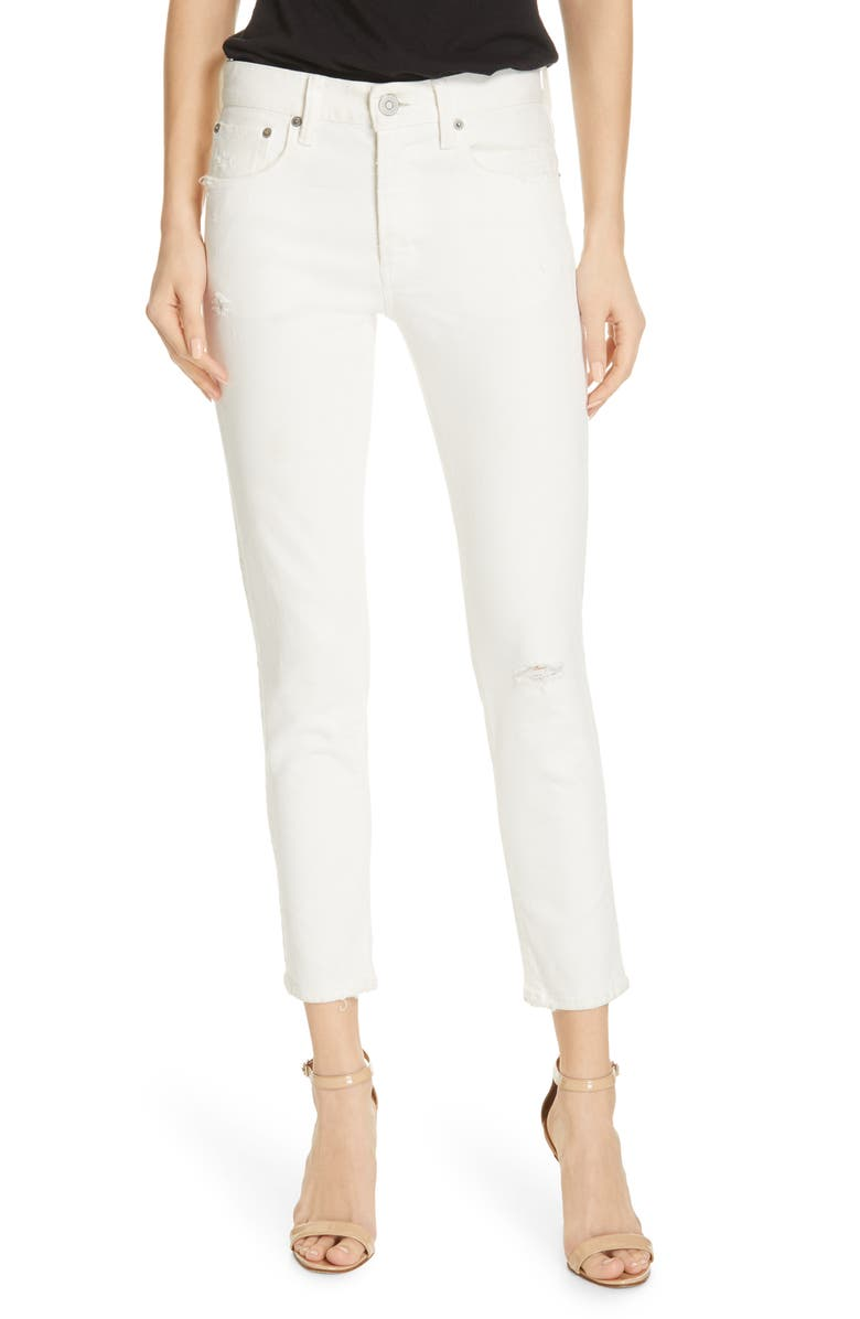 MOUSSY VINTAGE Velma Crop Skinny Jeans, Main, color, WHITE