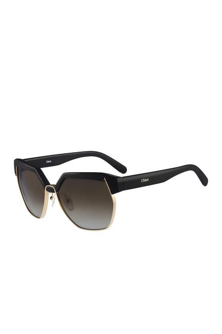 Image of Chloe 60mm Clubmaster Sunglasses