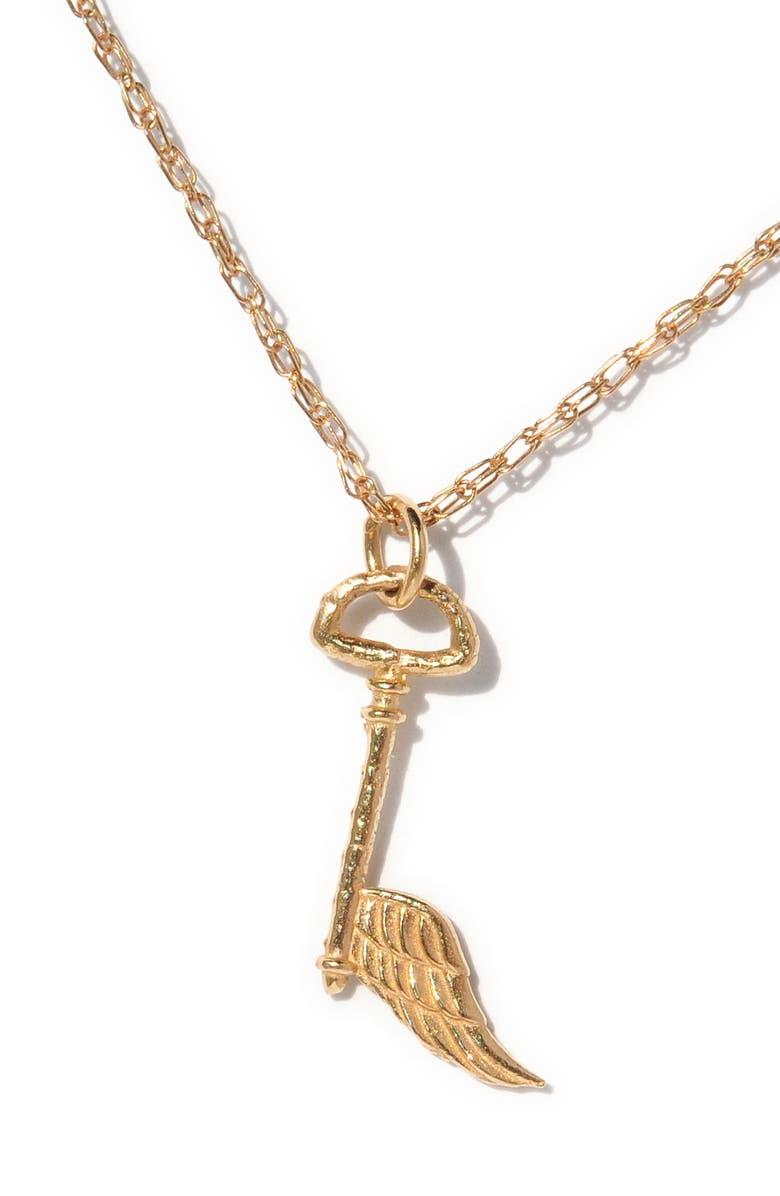 SOFIA ZAKIA Angel Key Pendant Necklace, Main, color, GOLD