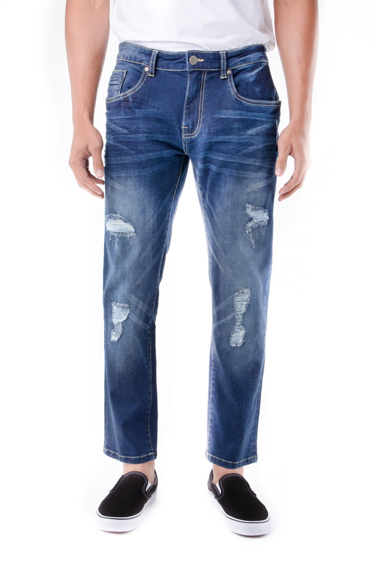 Image of XRAY Skinny-Fit Distressed Stretch Jeans
