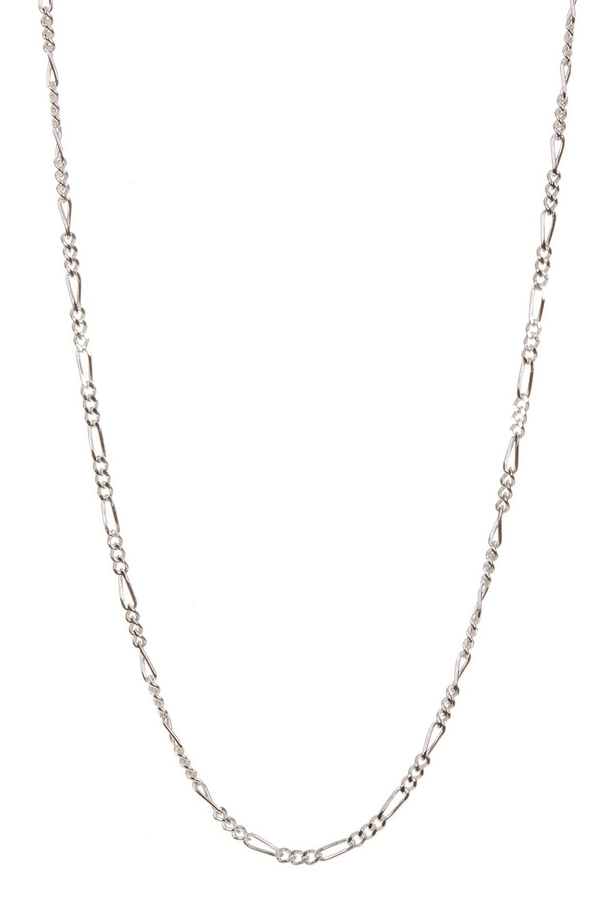 Image of Best Silver Inc. Sterling Silver 050 Gauge Figaro Chain 20""