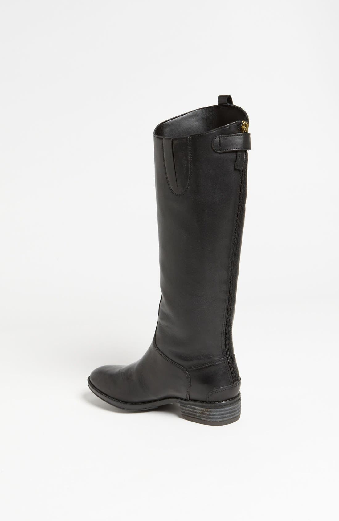 ,                             Penny Boot,                             Alternate thumbnail 6, color,                             BLACK WIDE CALF