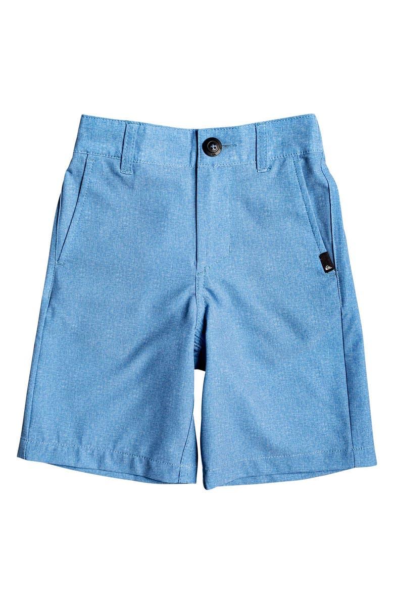 QUIKSILVER Union Heather Amphibian Hybrid Shorts, Main, color, QUIET HARBOR