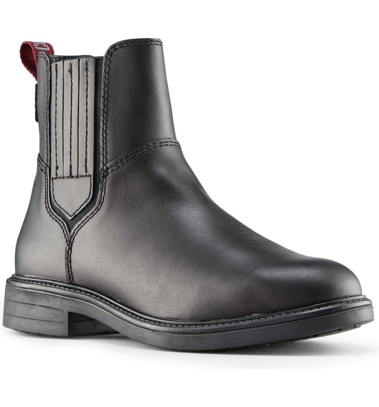 COUGAR Helena Waterproof Chelsea Boot, Main, color, BLACK LEATHER