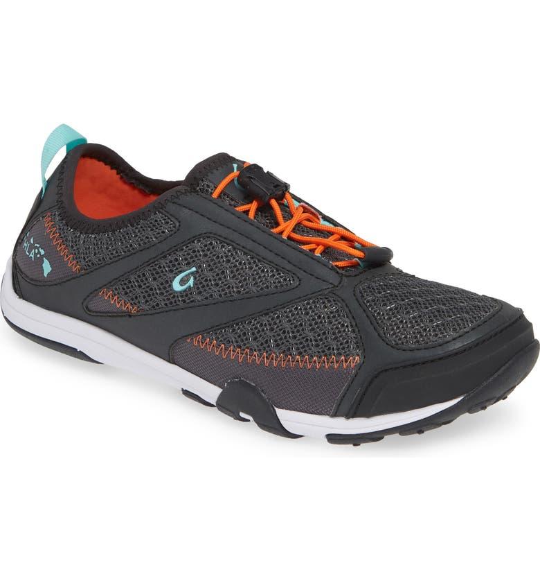 OLUKAI 'Eleu' Water-Resistant Sneaker, Main, color, DARK SHADOW/ LAVA ROCK FABRIC