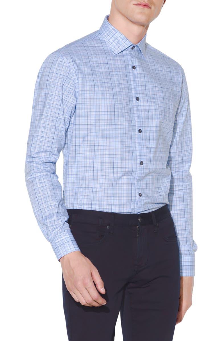 JOHN VARVATOS STAR USA Slim Fit Glen Plaid Dress Shirt, Main, color, 487