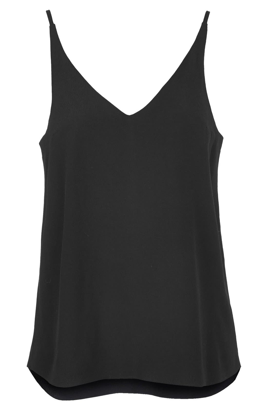 ,                             Strappy V-Neck Camisole,                             Alternate thumbnail 4, color,                             001