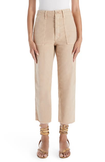 Mother THE PATCH POCKET PRIVATE FRAYED ANKLE PANTS