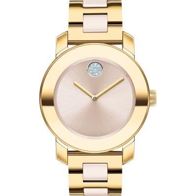 Movado Bold Pave Dot Ceramic Bracelet Watch,