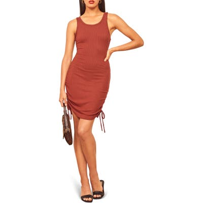 Reformation Aerin Body-Con Minidress, Red