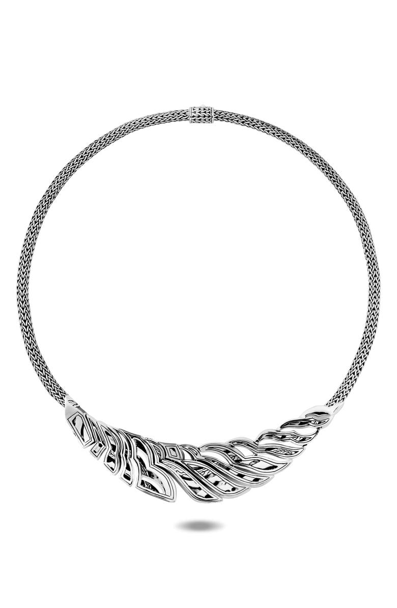 JOHN HARDY Lahar Bib Necklace with Diamonds, Main, color, SILVER/ DIAMOND