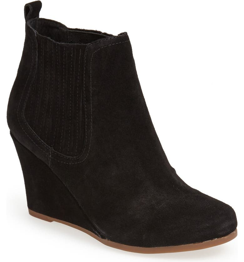 DV BY DOLCE VITA 'Posie' Wedge Bootie, Main, color, 001