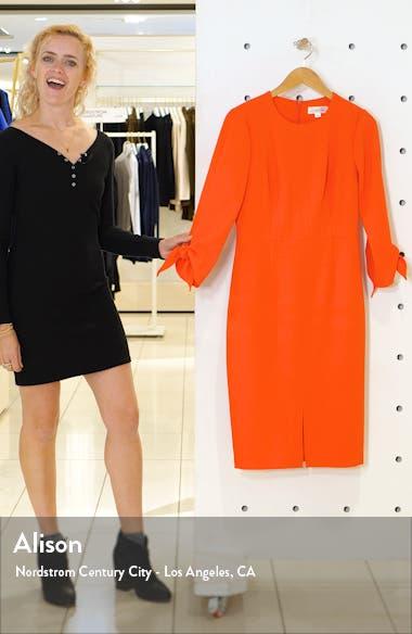 Tie Sleeve Sheath Dress, sales video thumbnail