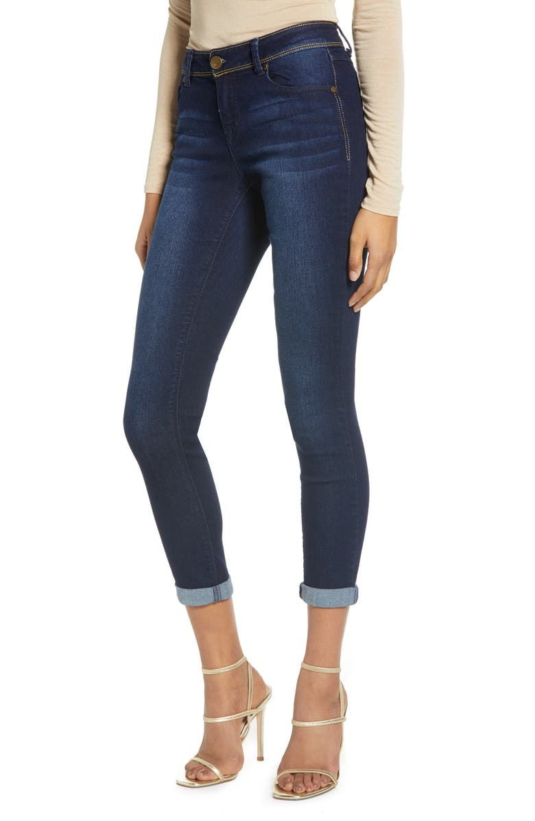 1822 DENIM Gold Stitch Ankle Skinny Jeans, Main, color, MARCO