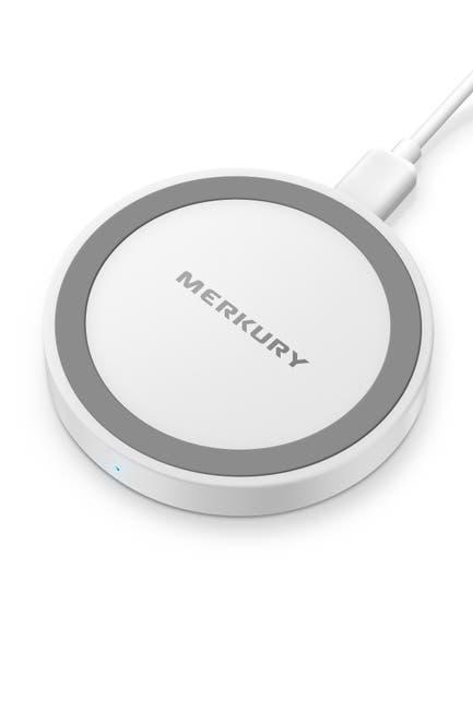 Image of Merkury Innovations White 5W Round Metallic Wireless Charging Pad