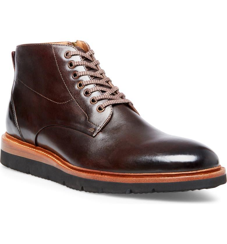 STEVE MADDEN Admyral Plain Toe Boot, Main, color, CHOCOLATE LEATHER