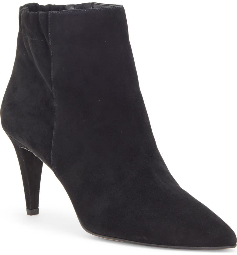 ENZO ANGIOLINI Philoni Pointed Toe Bootie, Main, color, BLACK SUEDE