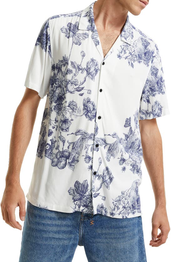 Ksubi Shirts MASTER FLORAL SHORT SLEEVE BUTTON-UP RESORT SHIRT