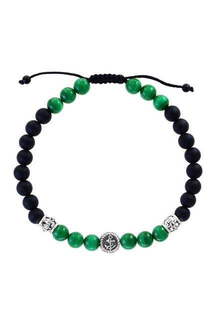 Image of Effy Sterling Silver, Malachite, & Onyx Bracelet