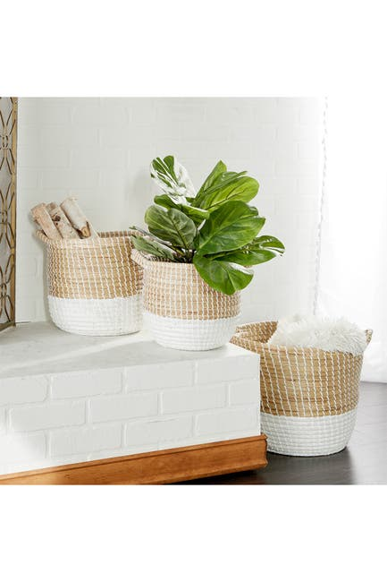 Image of CosmoLiving by Cosmopolitan Seagrass Basket - Set of 3