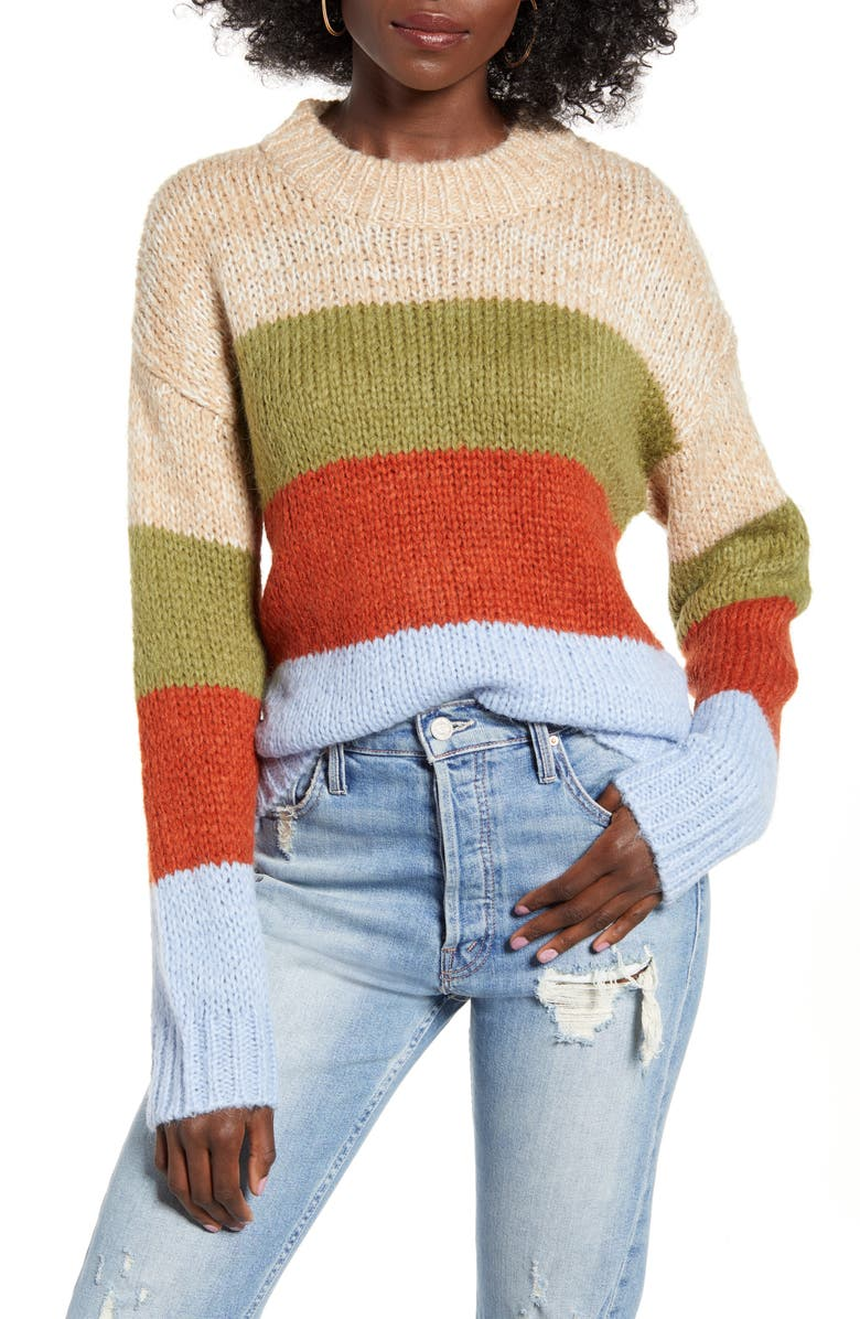 J.O.A. Multi Stripe Sweater, Main, color, 250
