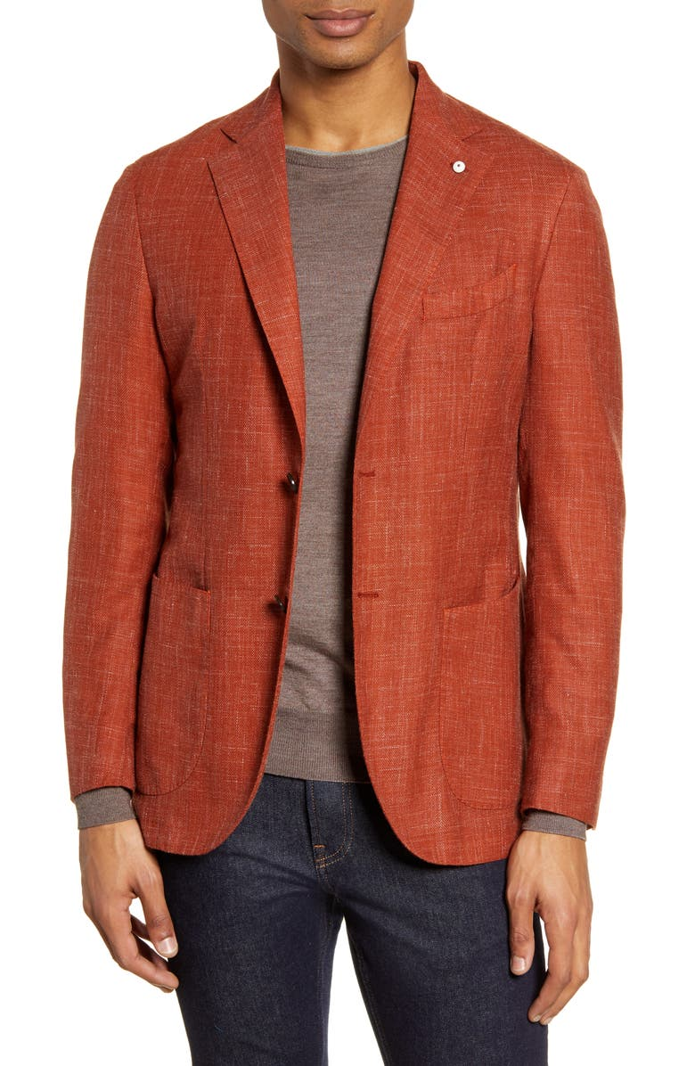 L.B.M. 1911 Trim Fit Solid Wool Blend Sport Coat, Main, color, 800