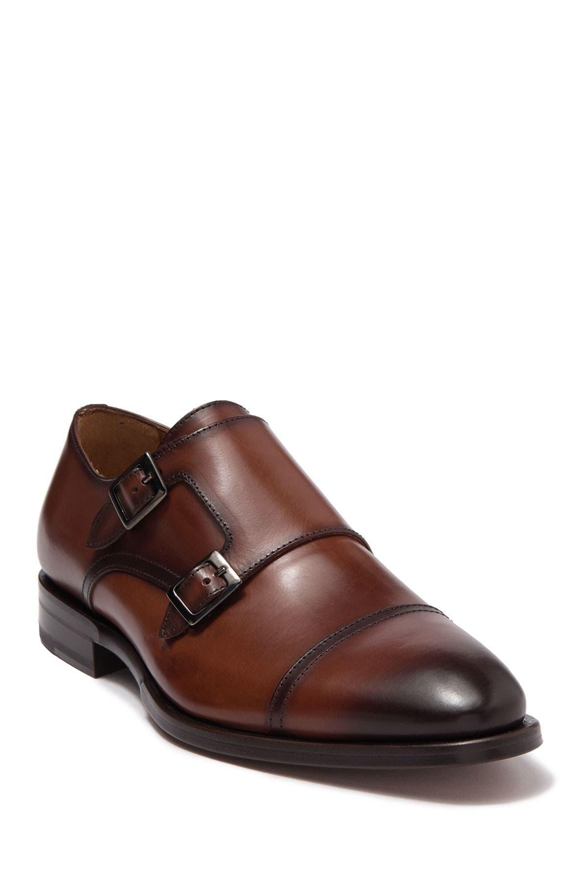 Image of Antonio Maurizi Cap Toe Double Monk Strap Dress Shoe