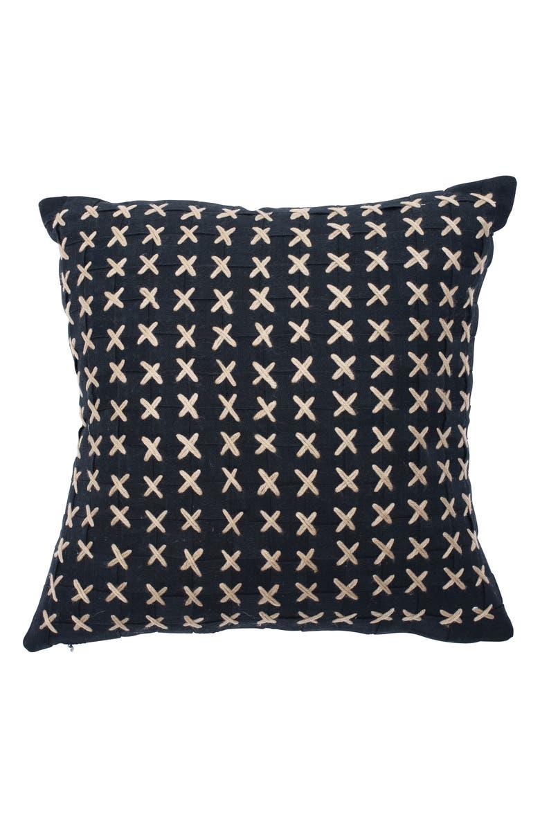 EADIE LIFESTYLE Flette Accent Pillow, Main, color, BLACK/ NATURAL