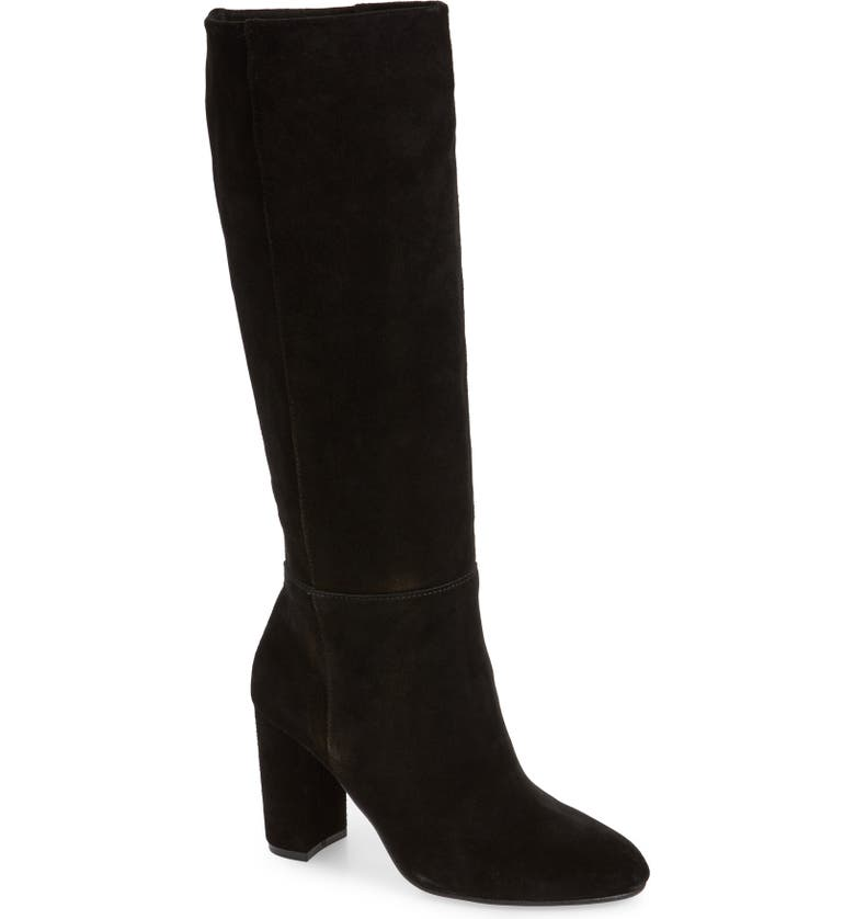 CHINESE LAUNDRY Krafty Knee High Boot, Main, color, BLACK SUEDE