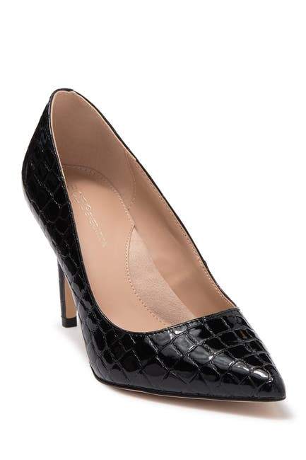 Image of BCBG Middea Croc Embossed Pointed Toe Pump