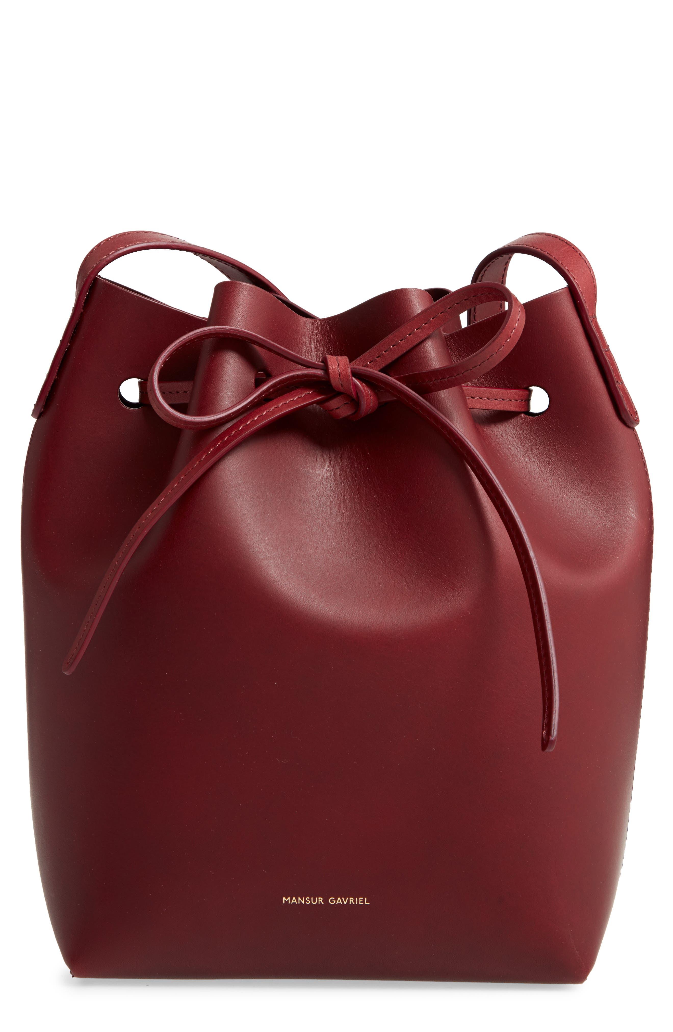 Mansur Gavriel Bags Mini Leather Bucket Bag
