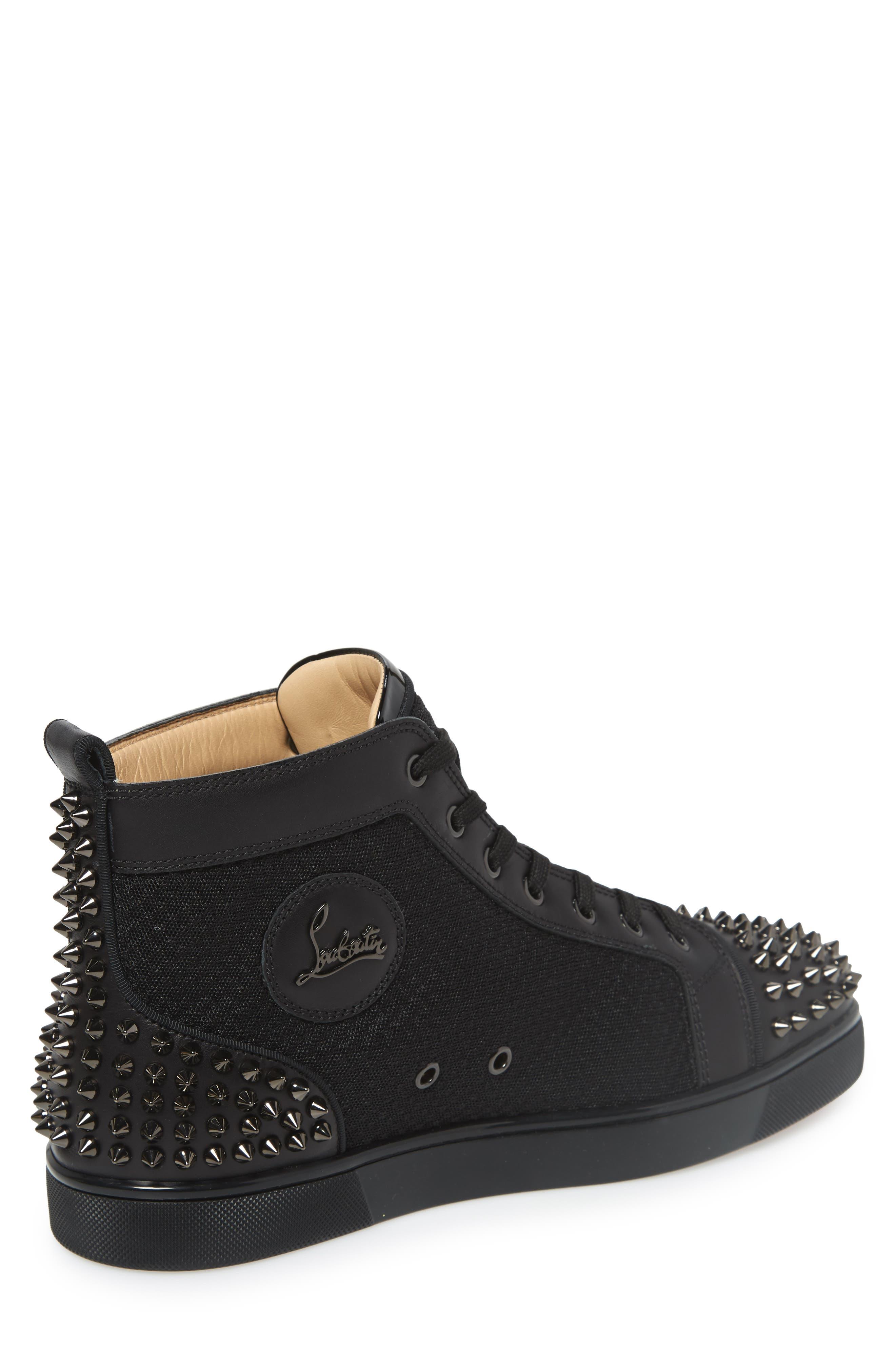 ,                             AC Lou Spikes 2 High Top Sneaker,                             Alternate thumbnail 2, color,                             BLACK
