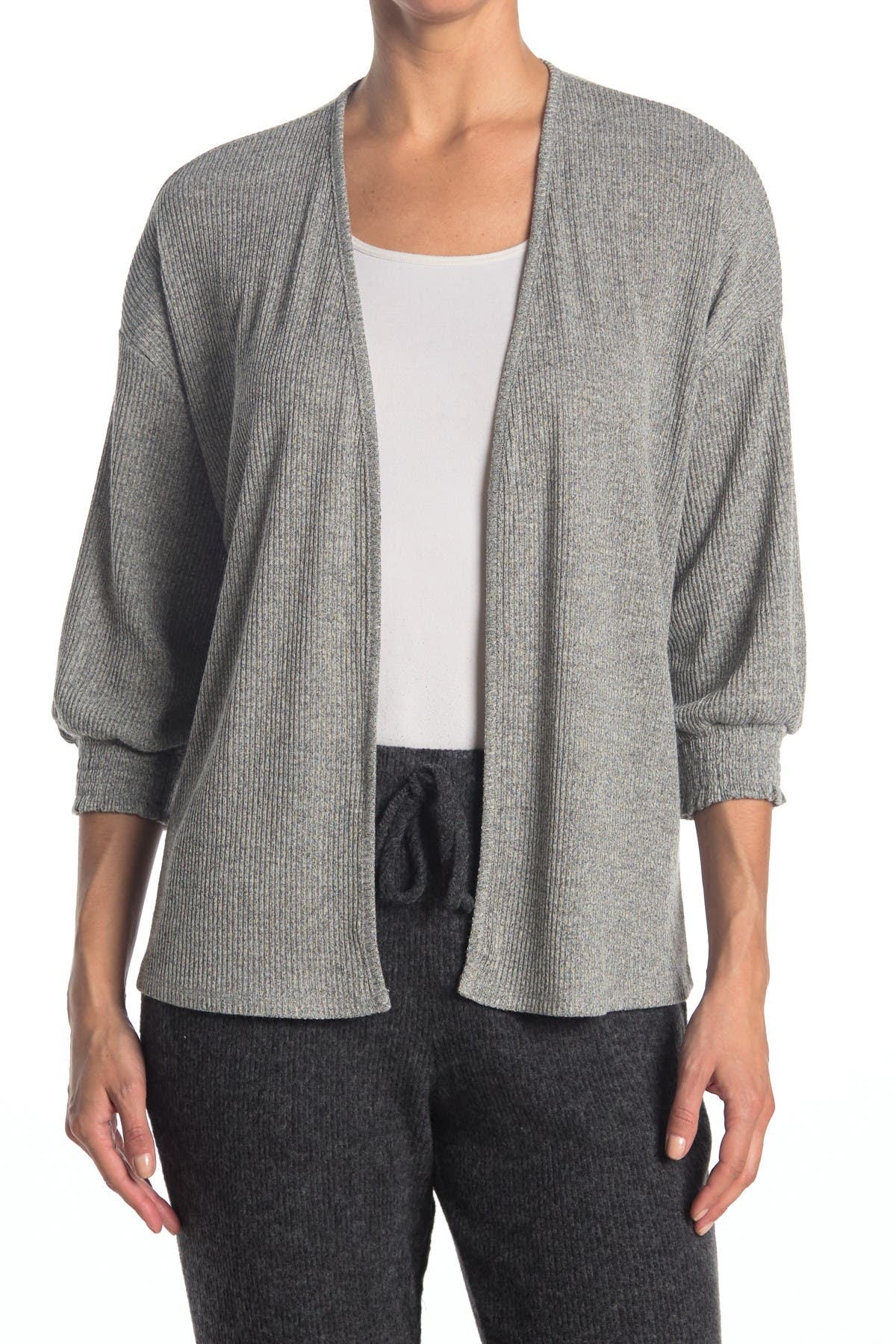 Image of ECLAIR Ribbed Hacci Knit Cardigan