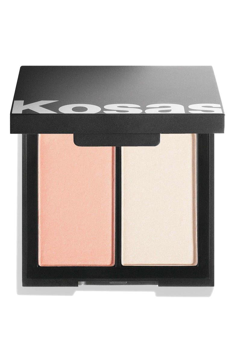 KOSAS Color & Light Intensity Powder Blush & Highlighter Palette, Main, color, PAPAYA 1972