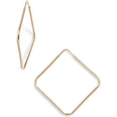 Loren Stewart Square Infinity Hoop Earrings