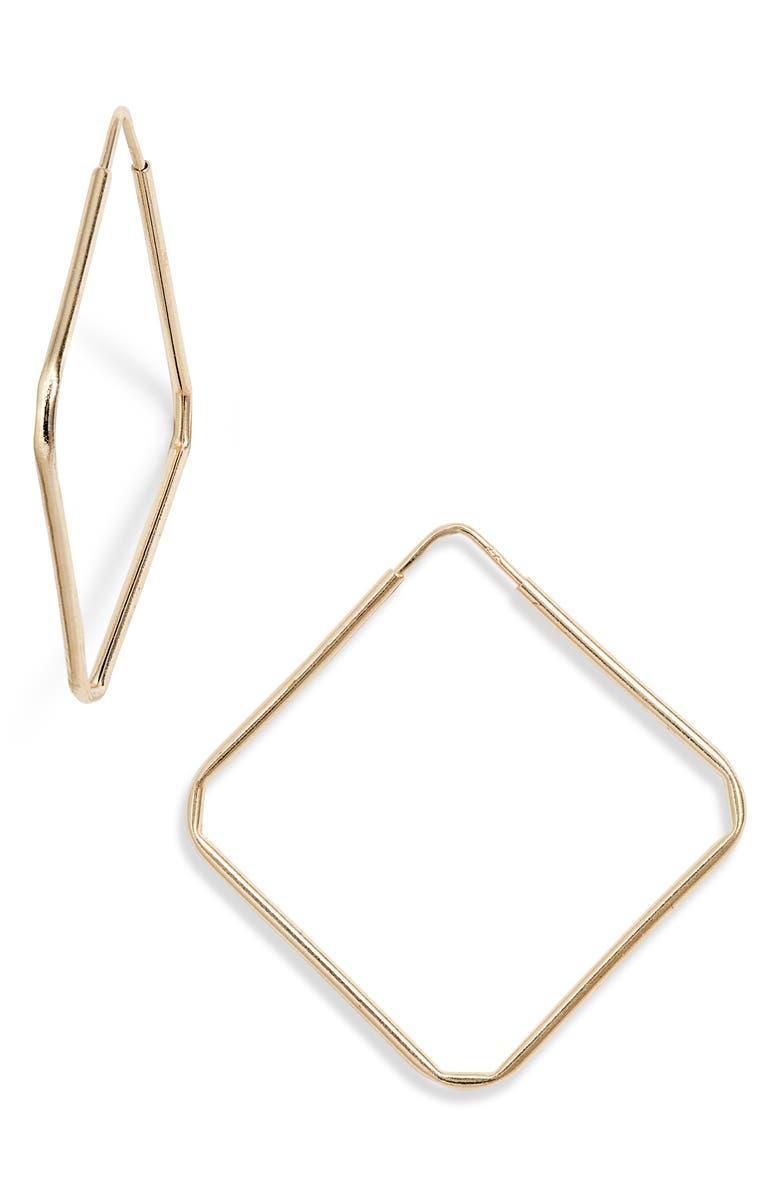 LOREN STEWART Square Infinity Hoop Earrings, Main, color, GOLD