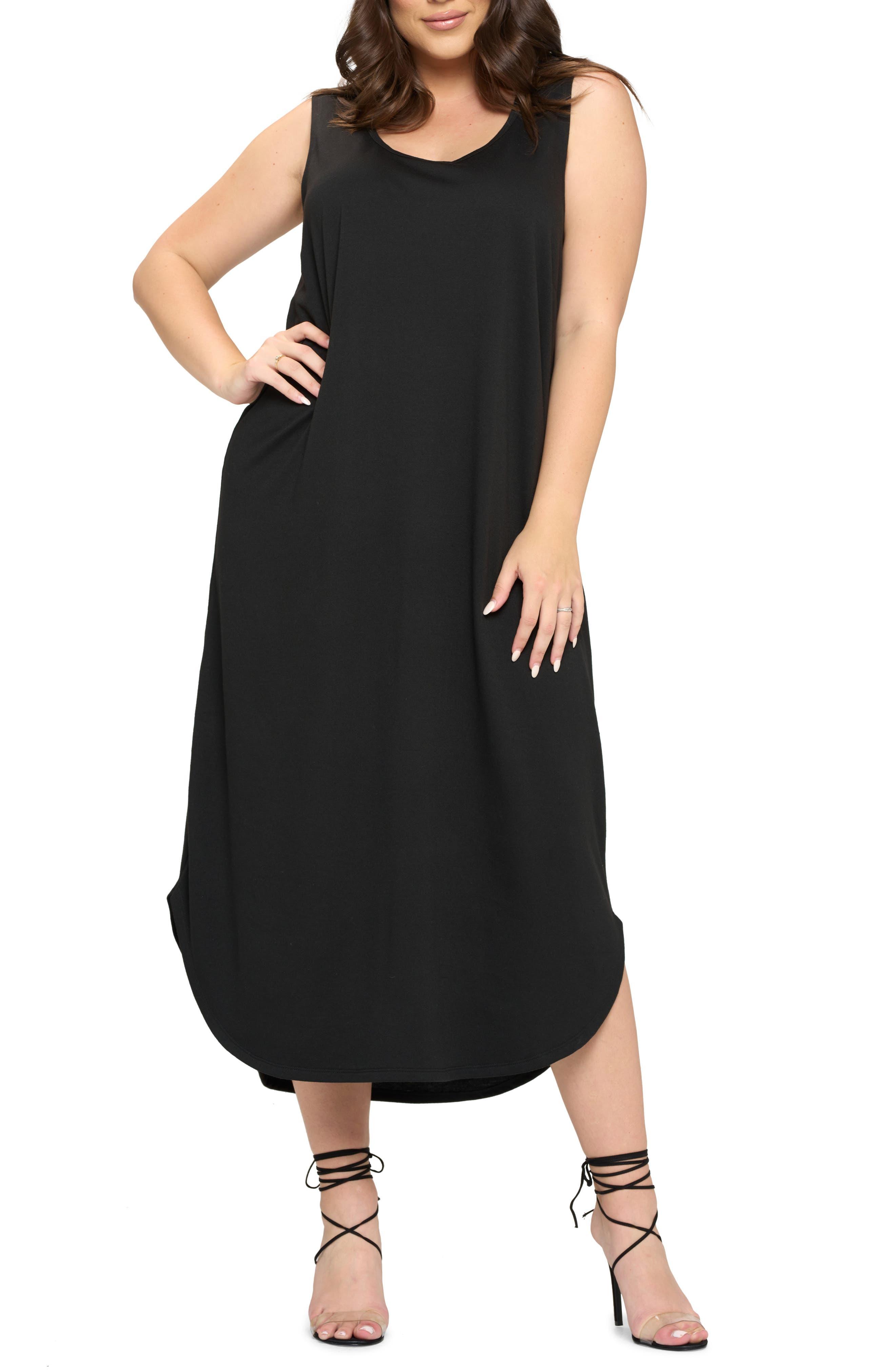 Sleeveless Jersey Crepe Dress