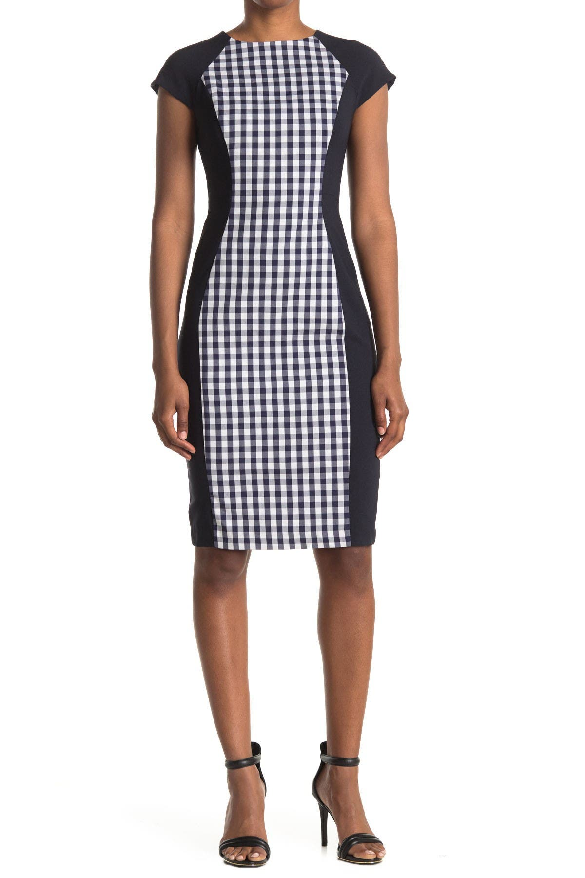 Image of Maggy London Colorblock Cap Sleeve Sheath Dress