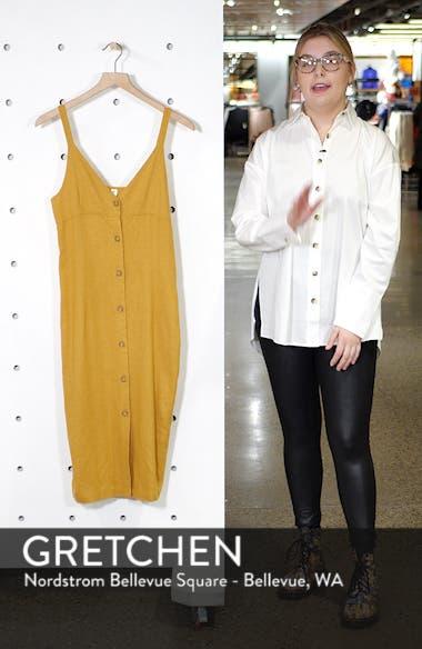 Linen Blend Knee Length Sundress, sales video thumbnail