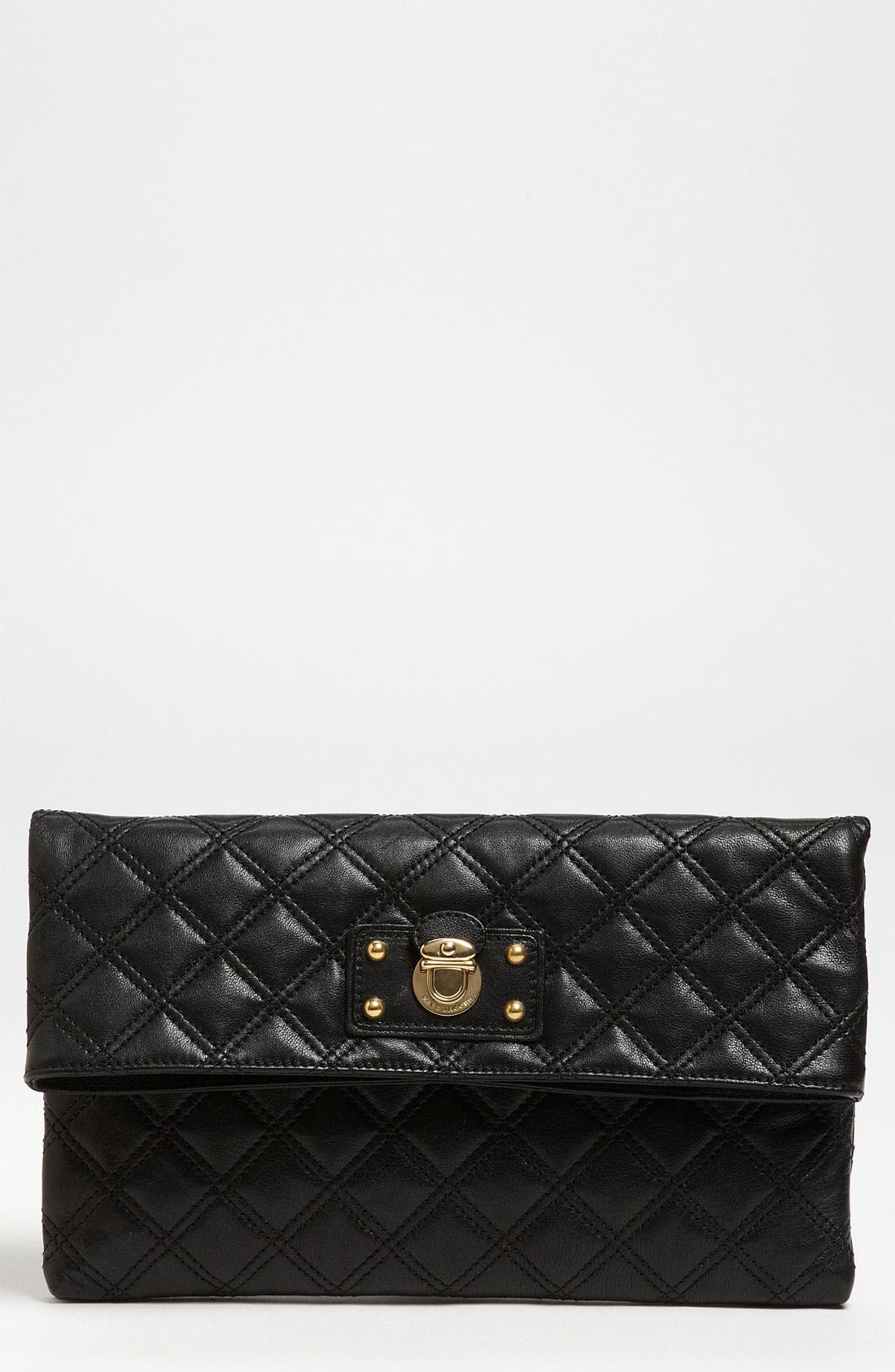 ,                             'Quilting - Eugenie' Leather Clutch,                             Main thumbnail 3, color,                             003