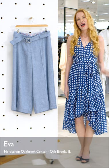 Belted Cropped Wide Leg Pants, sales video thumbnail